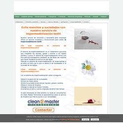 Impermeabilización textil - servicio para empresas y profesionales - Clean Master Tintorerías