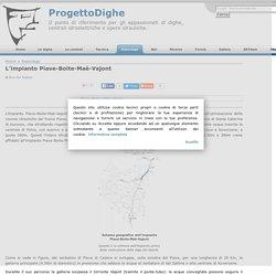 L'impianto Piave-Boite-Maè-Vajont - ProgettoDighe