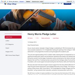 Impington Village College - Henry Morris Pledge Letter