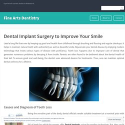 Dental Implant Surgery to Improve Your Smile