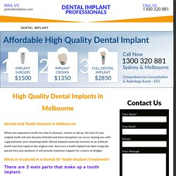High Quality Dental Implants in Melbourne - Dental Implant Melbourne
