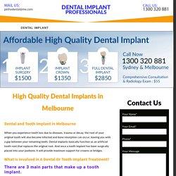 High Quality Dental Implants in Melbourne - Dental Implant Melbourne
