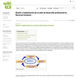 Diseño e implantación de un plan de desarrollo profesional en Recursos humanos - wiki EOI de documentación docente