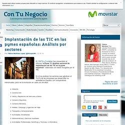 Implantación de las TIC en las pymes españolas: Análisis por sectores