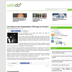Les dessous de l'implantation d'Orange en Tunisie