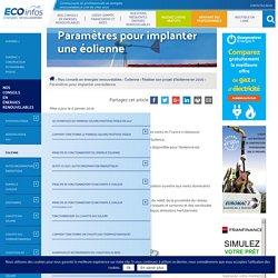Implantation des éoliennes en france - Les Énergies Renouvelables