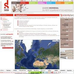 Implantations du Groupe SEB à travers le monde - Siège social à Lyon Ecully