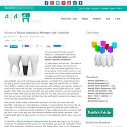 Success of Dental Implants in Monterey and Cookeville