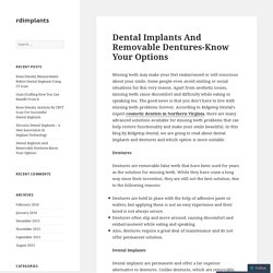Dental Implants And Removable Dentures-Know Your Options