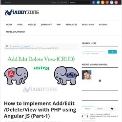 How to Implement Add/Edit/Delete/View with PHP using angular