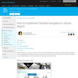 How to implement faceted navigation in Azure Search