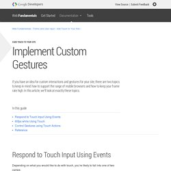 Implement Custom Gestures — Web Fundamentals