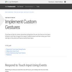 Implement Custom Gestures — Web Fundamentals