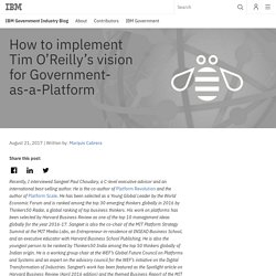How to implement Tim O'Reilly's vision for Government-as-a-Platform - IBM Government Industry Blog