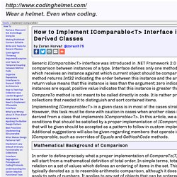 How to Implement IComparable<T> Interface in Base and Derived Classes