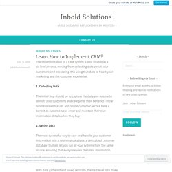 Learn How to Implement CRM? – Inbold Solutions