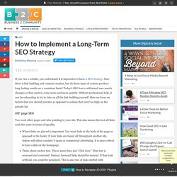 How to Implement a Long-Term SEO Strategy