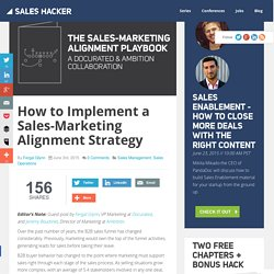 How to Implement a Sales-Marketing Alignment Strategy