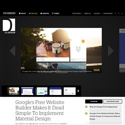 Google's Free Website Builder Makes It Dead Simple To Implement Material Design