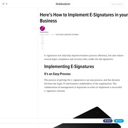 Here's How to Implement E-Signatures in your Business