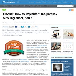 Tutorial: How to implement the parallax scrolling effect, part 1