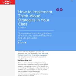How to Implement Think-Aloud Strategies in Your Class