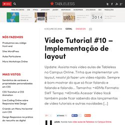Video Tutorial #10 – Implementação de layout