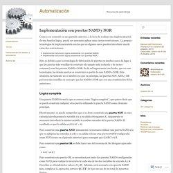 Implementación con puertas NAND y NOR
