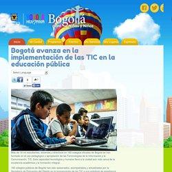 Bogotá avanza en la implementación de las TIC en la educación pública