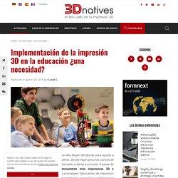 Implementación de la impresión 3D en la educación
