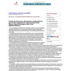 Gestión de información: dimensiones e implementación para el éxito organizacional