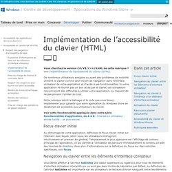 Implémentation de l'accessibilité du clavier (HTML)