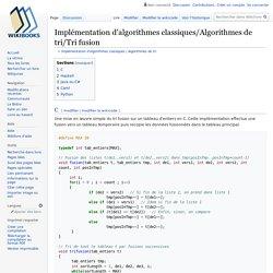 Implémentation d'algorithmes classiques/Algorithmes de tri/Tri fusion