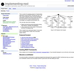 implementing-rest - Project Hosting on Google Code