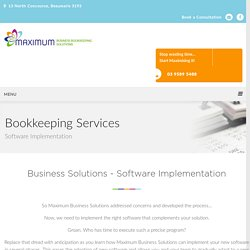 Software Implementation At Maximum Business Solutions