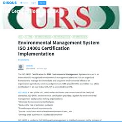 Environmental Management System ISO 14001 Certification Implementation