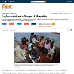 Implementation challenges of BharatNet