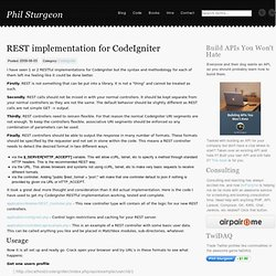 REST implementation for CodeIgniter | Blog | Phil Sturgeon
