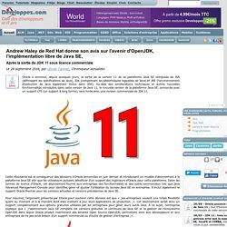 Andrew Haley de Red Hat donne son avis sur l'avenir d'OpenJDK, l'implémentation libre de Java SE, après la sortie de JDK 11 sous licence commerciale