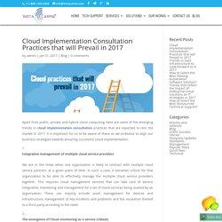 Cloud Implementation Consultation practices - InstaCarma