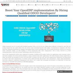 Boost Your OpenERP implementation By Hiring Qualified ODOO Developers!