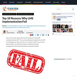 Top 10 Reasons Why LMS Implementation Fail