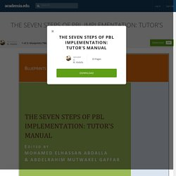 THE SEVEN STEPS OF PBL IMPLEMENTATION: TUTOR'S MANUAL