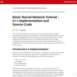 Basic Neural Network Tutorial : C++ Implementation and Source Code