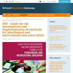 PDF - Guide for the development and implementation of curricula for plurilingual and intercultural education (2016)