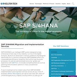 SAP S/4HANA Implementation and Migration Services