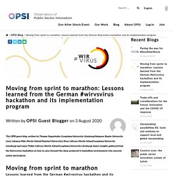 Mélodie - Moving from sprint to marathon: Lessons learned from the German #wirvsvirus hackathon and its implementation program - Observatory of Public Sector Innovation Observatory of Public Sector Innovation