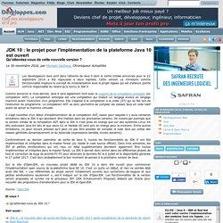 JDK 10 : le projet pour l'implémentation de la plateforme Java 10 est ouvert, qu'attendez-vous de cette nouvelle version ?