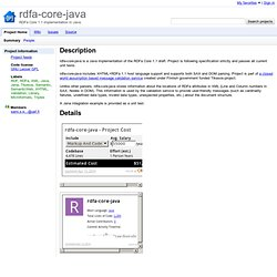 rdfa-core-java - RDFa Core 1.1 implementation in Java