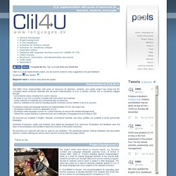 Clil4U CLIL implementation with pools of resources for teachers, students, and pupils